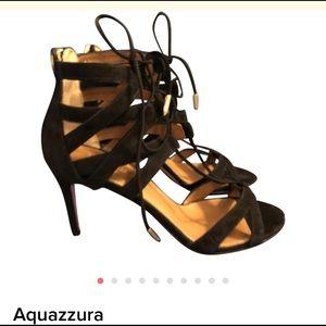 NWT Aquazzura Suede Cage Sandals/Heels